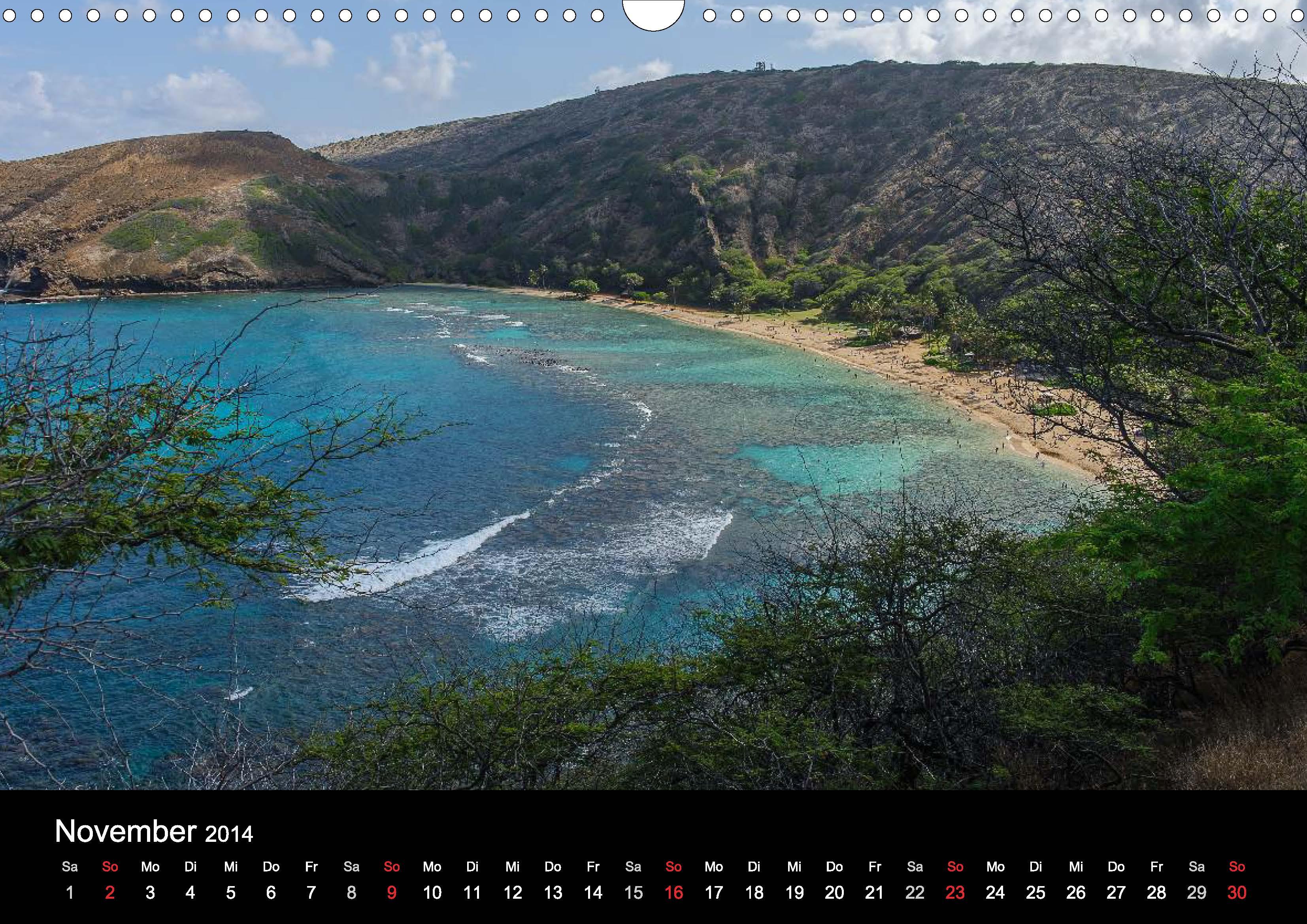 Hawaii-Kalender für 2015 sind fertig