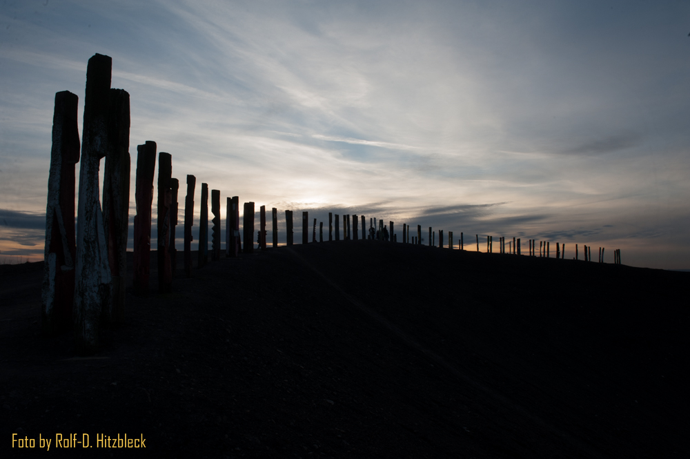 Haldenklettern in Bottrop, Halde Haniel